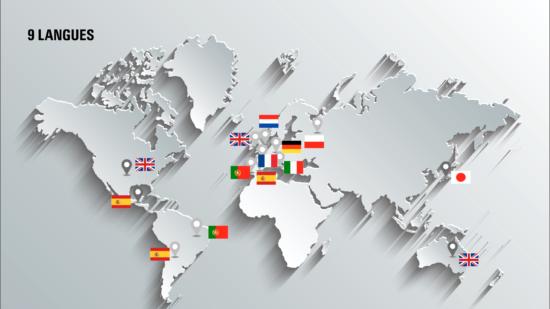 9 langues sont utilisables par nos outils pour l'analyse de verbatim