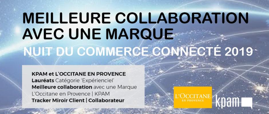 KPAM et L'Occitane en Provence Lauréats Nuit du Commerce Connecté
